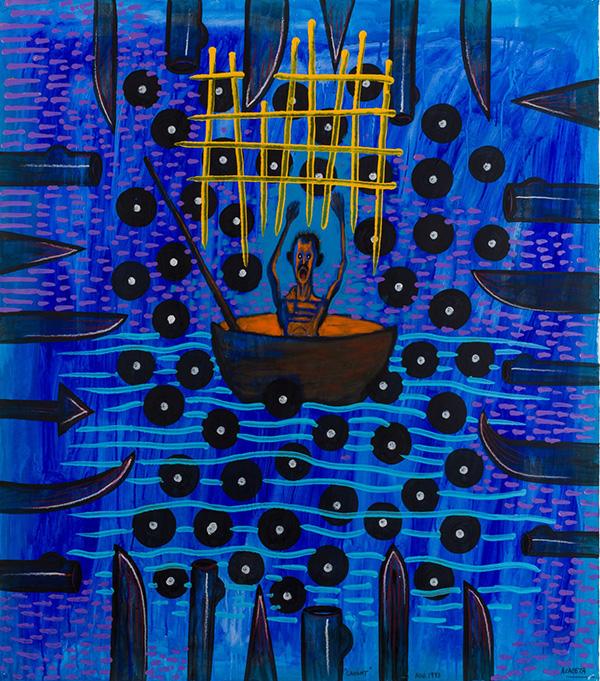 Luis Cruz Azaceta. Caught, 1993. Contemporary Cuban Art